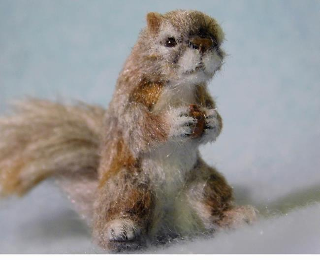 Art: Silk Furred Squirrel by Artist Camille Meeker Turner