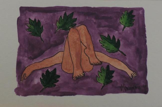 Art: falling leaves by Artist Nancy Denommee