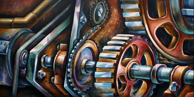 Art: c913.24.25x48.25 good by Artist Michael A Lang