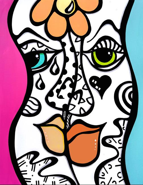 Art: Original Abstract Pop Art Stereo Love by Artist Thomas C. Fedro