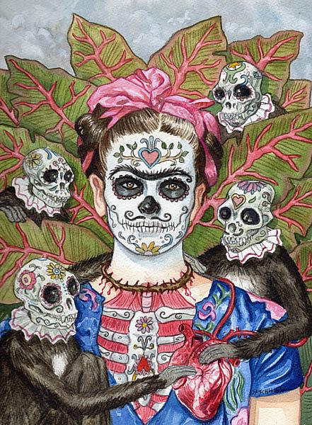 Art: Frida De Los Muertos by Artist Mark Satchwill