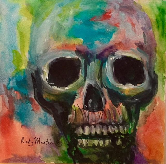 Art: Skull Abstract by Artist Ulrike 'Ricky' Martin