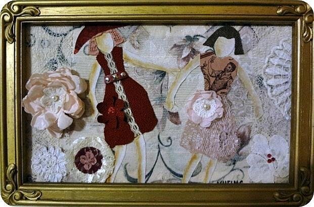 Art: Dancing Sisters by Artist Vicky Helms