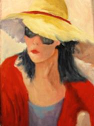 Art: Lady in Sunglasses by Artist Barbara Haviland
