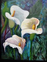 Art: Calla Lilies in White by Artist Barbara Haviland