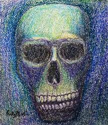 Art: Skull by Artist Ulrike 'Ricky' Martin