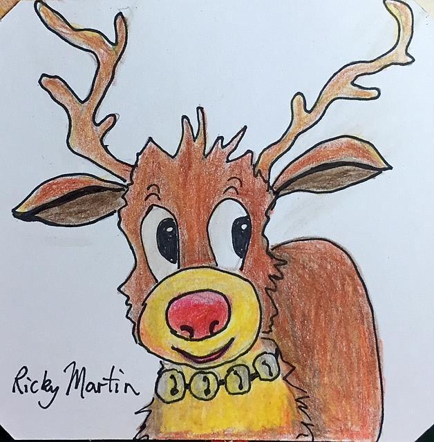 Art: Rudi Reindeer by Artist Ulrike 'Ricky' Martin