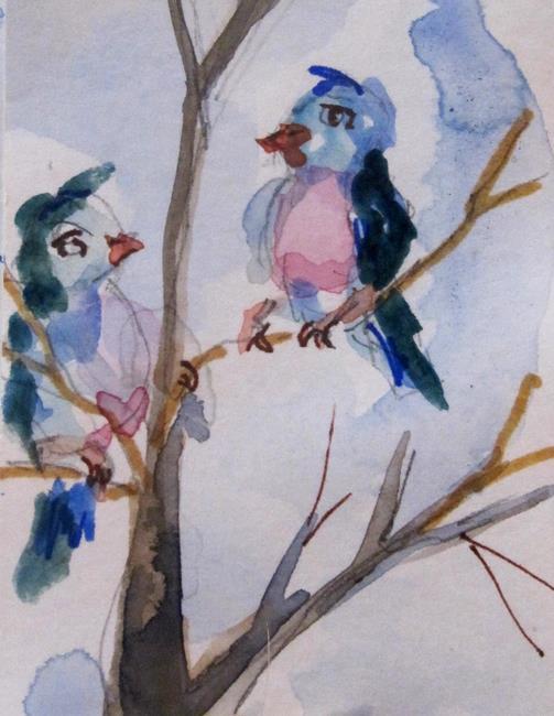 Art: Birds in a Tree by Artist Delilah Smith