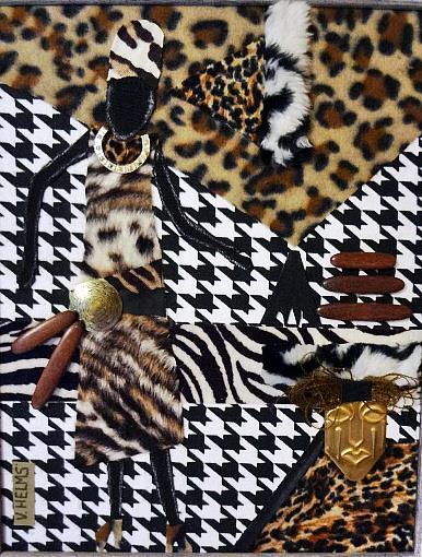 Art: Zebra Girl by Artist Vicky Helms