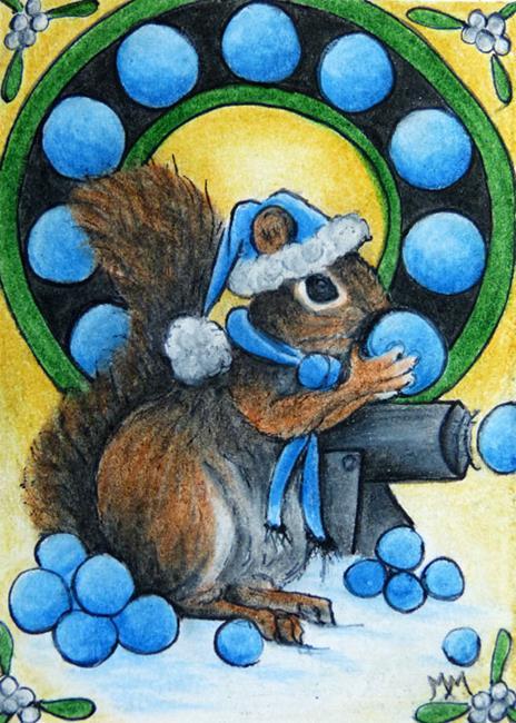 Art: Snowball Cannon  (SOLD) by Artist Monique Morin Matson
