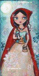 Art: Kittens and snowflakes by Artist Betty Stoumbos