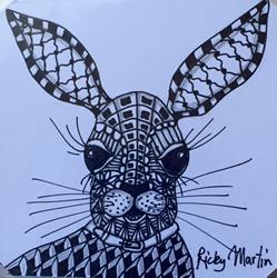 Art: Hare I Am - Zentangle Inspired by Artist Ulrike 'Ricky' Martin