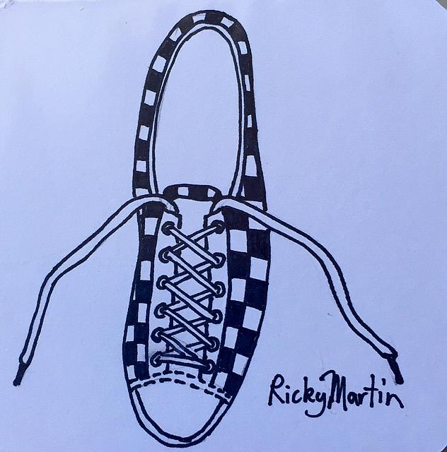 Art: Tennis Shoe by Artist Ulrike 'Ricky' Martin