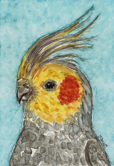 Art: Impression of a Cockatiel by Artist Melinda Dalke