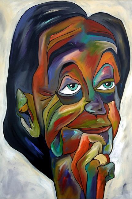 art original abstract art painting wisdom by artist thomas c fedro