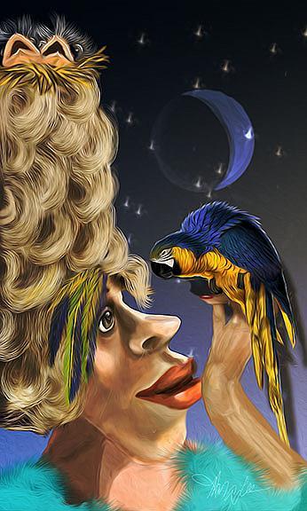 Art: Gerties Birdies by Artist Alma Lee