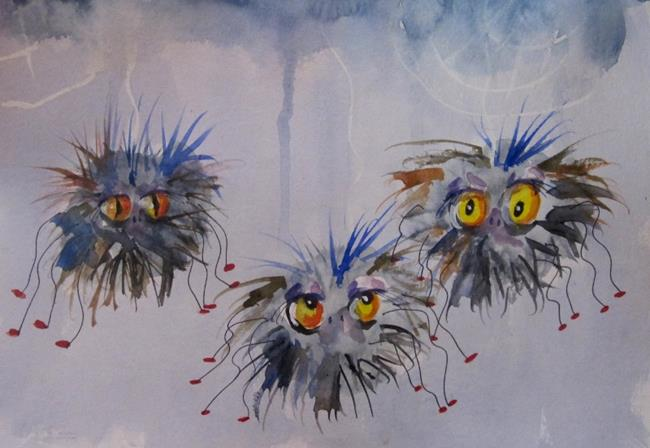 Art: Fuzzy Spider by Artist Delilah Smith