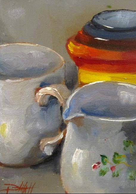 Art: Cup and Pitcher by Artist Delilah Smith