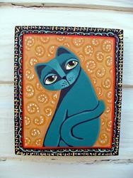 Art: Shy Blue by Artist Cindy Bontempo (GOSHRIN)