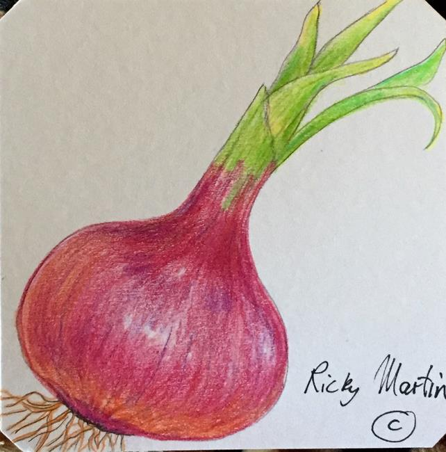 Art: red onion by Artist Ulrike 'Ricky' Martin