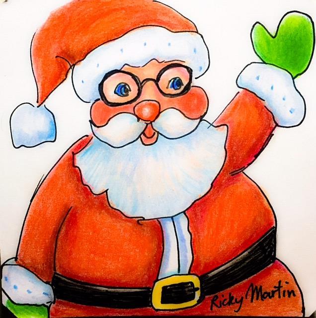 Art: Santa by Artist Ulrike 'Ricky' Martin