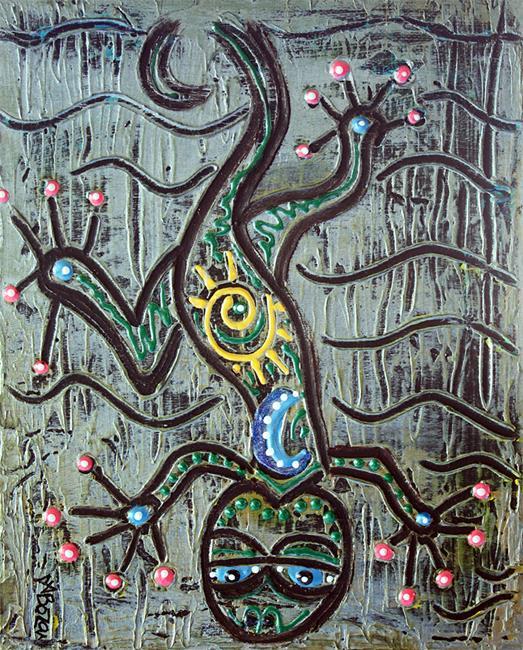 Art: Gecko by Artist Laura Barbosa