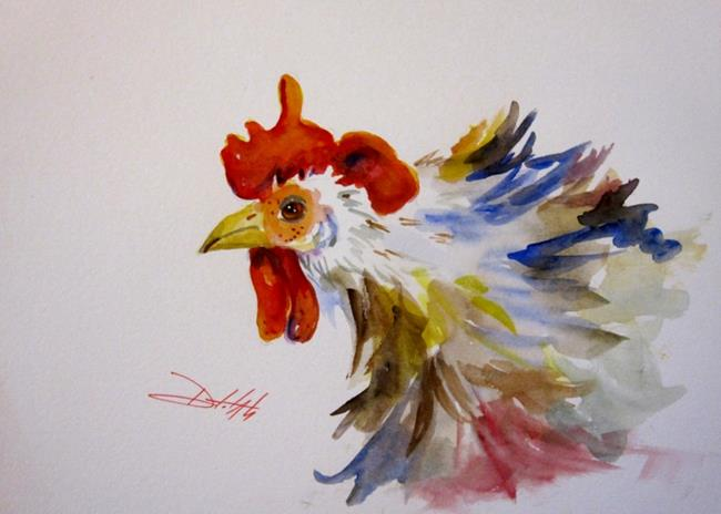 Art: Rooster in Color by Artist Delilah Smith