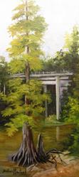 Art: Under The Bridge Village Creek by Artist Barbara Haviland