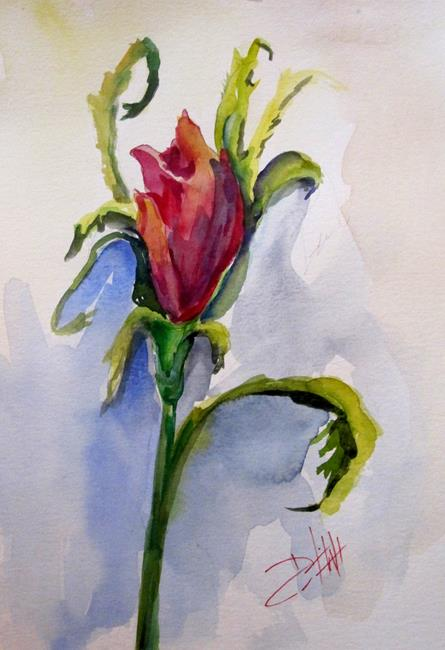 Art: Rose Bud-sold by Artist Delilah Smith