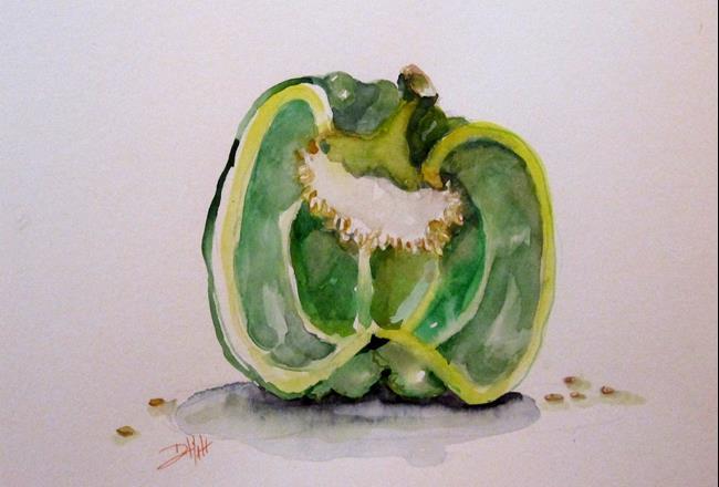 Art: Green Pepper by Artist Delilah Smith