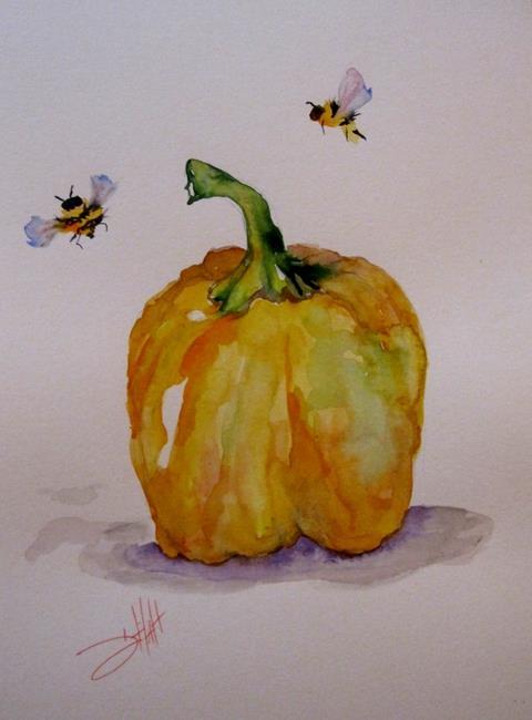 Art: Yellow Pepper by Artist Delilah Smith