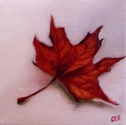 Art: Maple Leaf by Artist Christine E. S. Code ~CES~