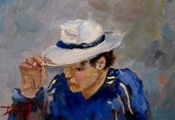 Art: Tip His Hat by Artist Delilah Smith