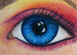 Art: Blue Eye  (SOLD) by Artist Monique Morin Matson