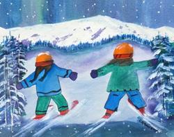 Art: Best Friends (sold) by Artist Kathy Crawshay