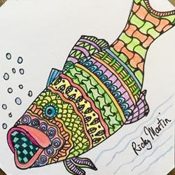 Art: Zentangle Inspired Fish by Artist Ulrike 'Ricky' Martin