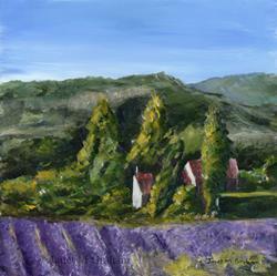 Art: Lavender Farm by Artist Janet M Graham