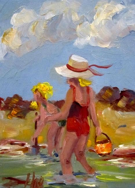 Art: Play at the Beach by Artist Delilah Smith