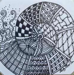 Art: Nautilus Zentangle Inspired by Artist Ulrike 'Ricky' Martin