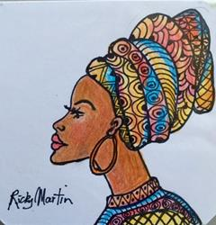 Art: The Headdress by Artist Ulrike 'Ricky' Martin