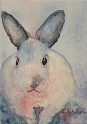 Art: White  Rabbit  sold by Artist Ulrike 'Ricky' Martin