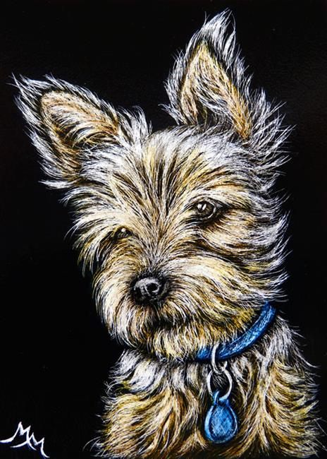 Art: Yorkie  (SOLD) by Artist Monique Morin Matson
