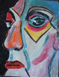 Art: face number 11 by Artist Nancy Denommee