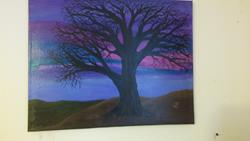 Art: purple Evening by Artist christi lynn schwartzkopf