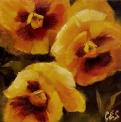 Art: Yellow Pansies by Artist Christine E. S. Code ~CES~