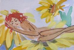 Art: Sleeping Fairy by Artist Delilah Smith