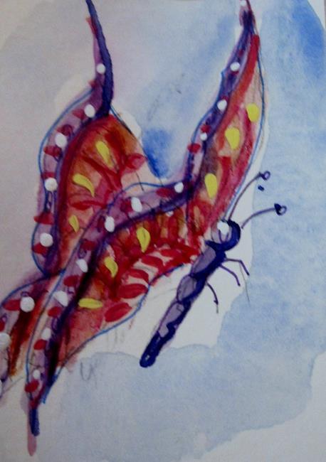 Art: Pol-Ka Dot Butterfly by Artist Delilah Smith
