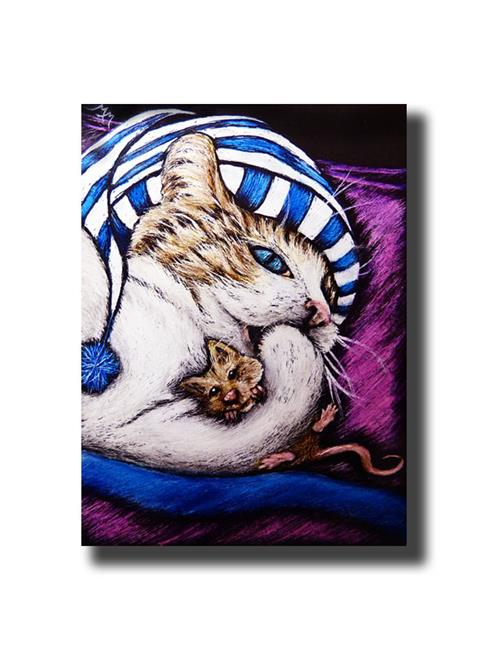Art: Sooooo Tired  (SOLD) by Artist Monique Morin Matson