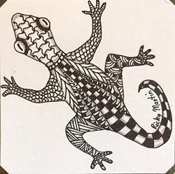 Art: Lizard Zentangle Inspired by Artist Ulrike 'Ricky' Martin