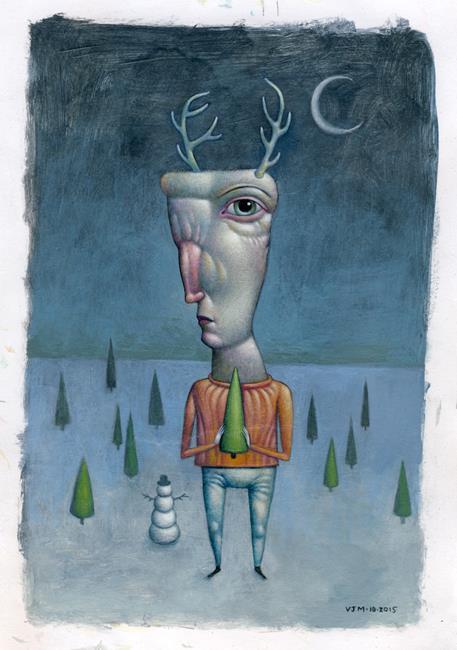 Art: Frankendeer by Artist Valerie Jeanne